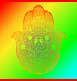 hamsa symbol fatima hand pattern vector image vector image
