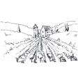 hand drawn a vineyard vector image