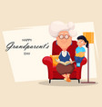 happy grandparents day greeting card vector image