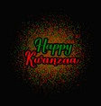happy kwanzaa calligraphy lettering on red and vector image vector image