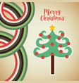 happy merry tree christmas character vector image vector image