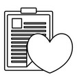 heart cardio with medical order vector image vector image