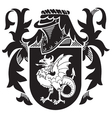 heraldic silhouette no10 vector image vector image
