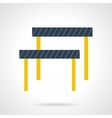 Hurdles flat color icon vector image
