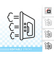iron simple household black line icon vector image