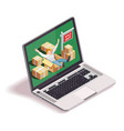 laptop moving people concept vector image