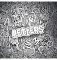 Letters abstract decorative doodles background