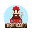 Lumberjack or Woodcutter logo vector image vector image