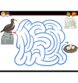 maze activity with eagle vector image