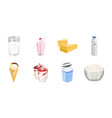 milk product icons in set collection for design vector image