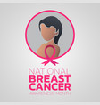 national breast cancer awareness month logo icon vector image vector image