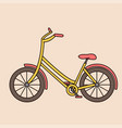 outline bicycle bike isolated vehicle vector image