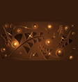 pattern of chocolate plants and blades of grass vector image vector image