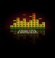 piano equalizer concept color sound waves design vector image