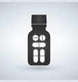 pill bottle icon modern pill bottle for pills or vector image vector image