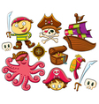 pirate collection set vector image