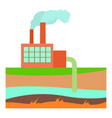 processing plant icon cartoon style vector image