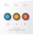 Resources icons set collection of team structure vector image