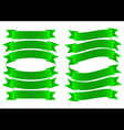 Ribbon Banner Green vector image