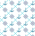 sailor anchor compass pattern vector image vector image