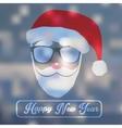 Santa Claus portrait Christmas card on a vector image