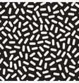 Seamless Black And White Rounded Jumble vector image vector image