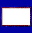 shining retro rectangular banner vector image