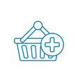 shopping linear icon concept shopping line vector image vector image