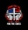 stand for flag kneel for cross vector image