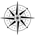 stencil of compass vector image vector image
