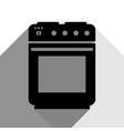 stove sign black icon with two flat gray vector image vector image