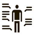 study human functions icon glyph vector image vector image