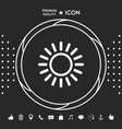 sun line icon graphic elements for your designt vector image