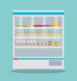 supermarket thermocool refrigerator shelves food vector image vector image