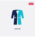 two color lab coat icon from fashion concept vector image vector image