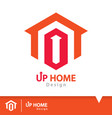 up home icon symbol vector image vector image