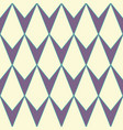 v-shaped rhombus or diamond seamless pattern vector image vector image