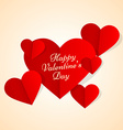 valentines hearts in paper style vector image vector image