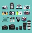Camera flat icons vector image
