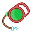 Retractable leash for dog icon cartoon style vector image