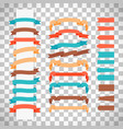 retro style ribbons on transparent background vector image