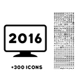 2016 Display Icon vector image vector image