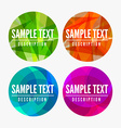 abstract labels vector image vector image