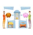 achieving financial goals concept vector image vector image