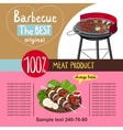 Assorted delicious grilled meat with vegetable vector image vector image