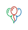 balloon color icon line ballon decoration vector image