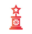 basketball game award trophy star equipment vector image