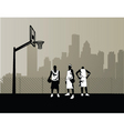 basketball team vector image vector image