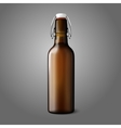 Blank brown realistic retro beer bottle isolated vector image vector image