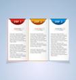 Brochure step progress design element vector image